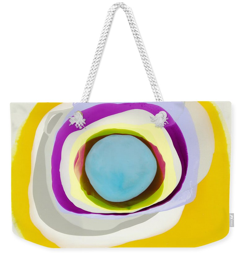 Abstract Weekender Tote Bag featuring the photograph Tranquil by Claire Desjardins