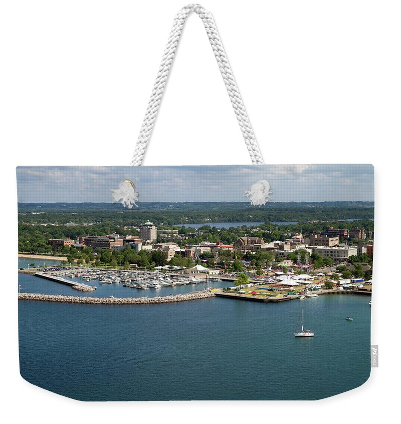 Lake Michigan Weekender Tote Bag featuring the photograph Traverse City, Michigan by Ct757fan