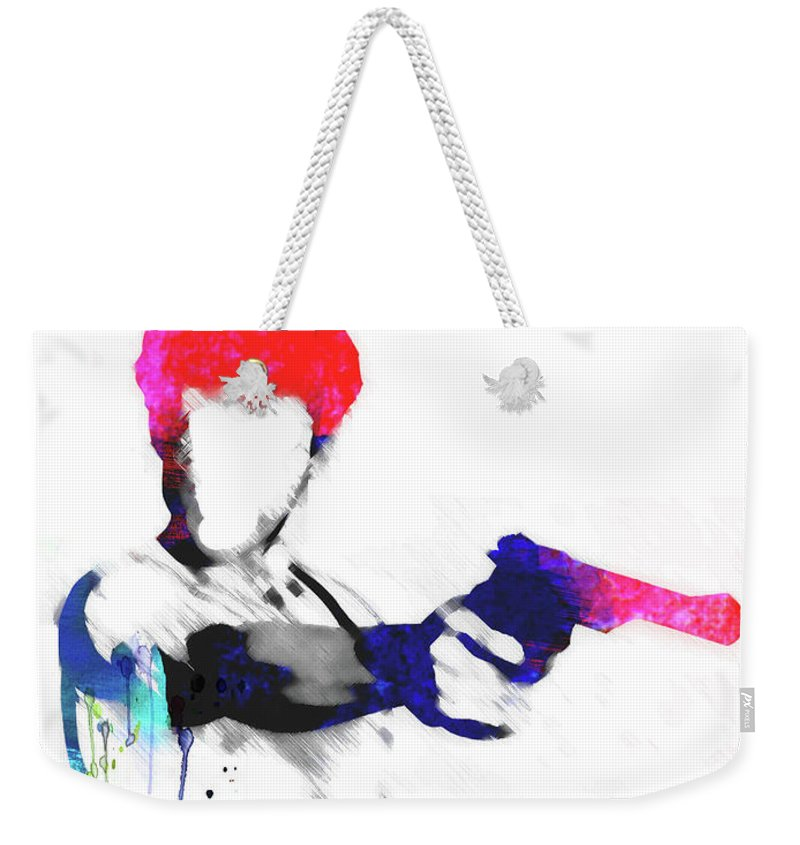 Movies Weekender Tote Bag featuring the mixed media Travis Watercolor by Naxart Studio