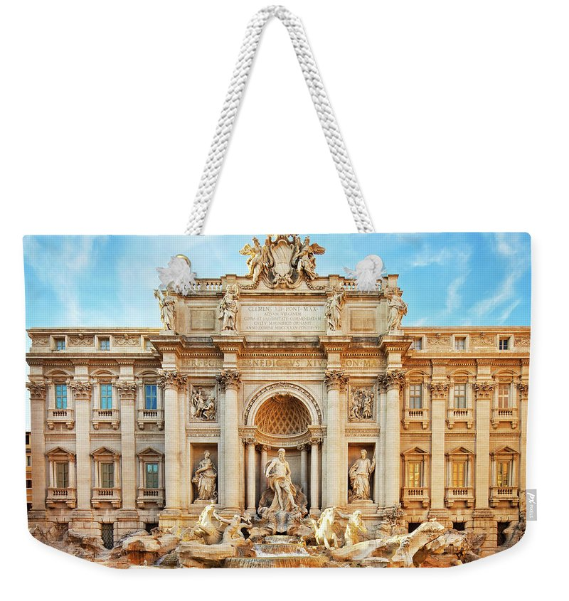 Empty Weekender Tote Bag featuring the photograph Trevi Fountain, Rome by Nikada