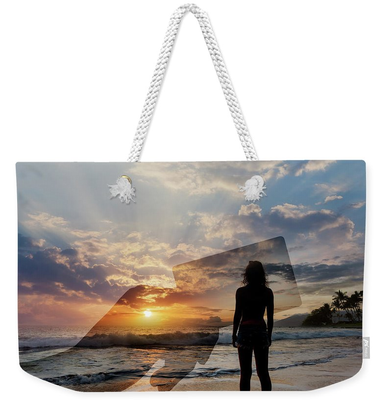 Tranquility Weekender Tote Bag featuring the photograph Tropical Vacation Solitude by John Lund