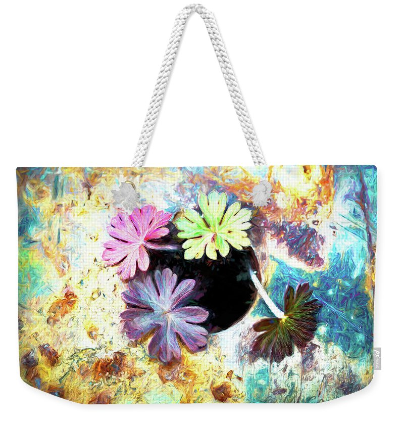 Art Weekender Tote Bag featuring the digital art Truck Bed Garden by Michael Campbell