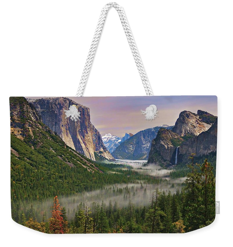 Scenics Weekender Tote Bag featuring the photograph Tunnel View. Yosemite. California by Sapna Reddy Photography
