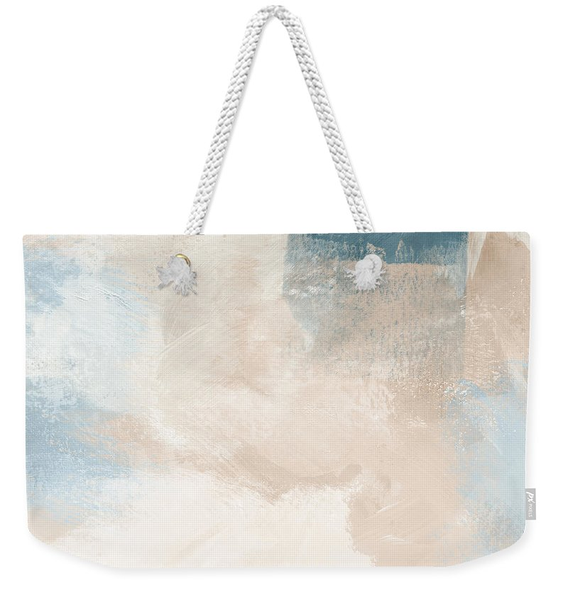 Abstract Weekender Tote Bag featuring the painting Twilight Blue 2- Art By Linda Woods by Linda Woods