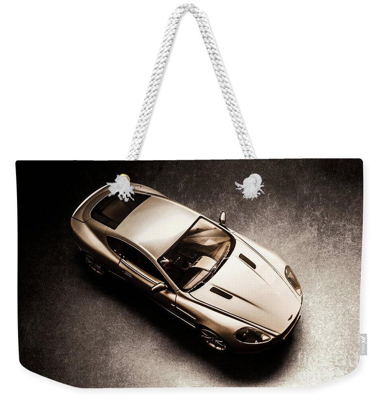 Aston Martin Weekender Tote Bag featuring the photograph Underground Racer by Jorgo Photography - Wall Art Gallery