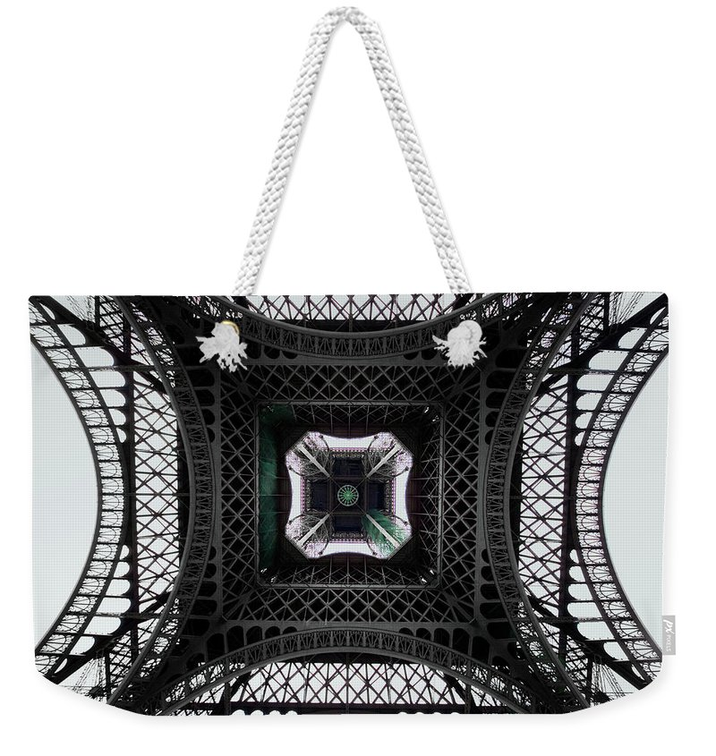 Eiffel Tower Weekender Tote Bag featuring the photograph Underneath Of Eiffel Tower, Low Angle by Ed Freeman
