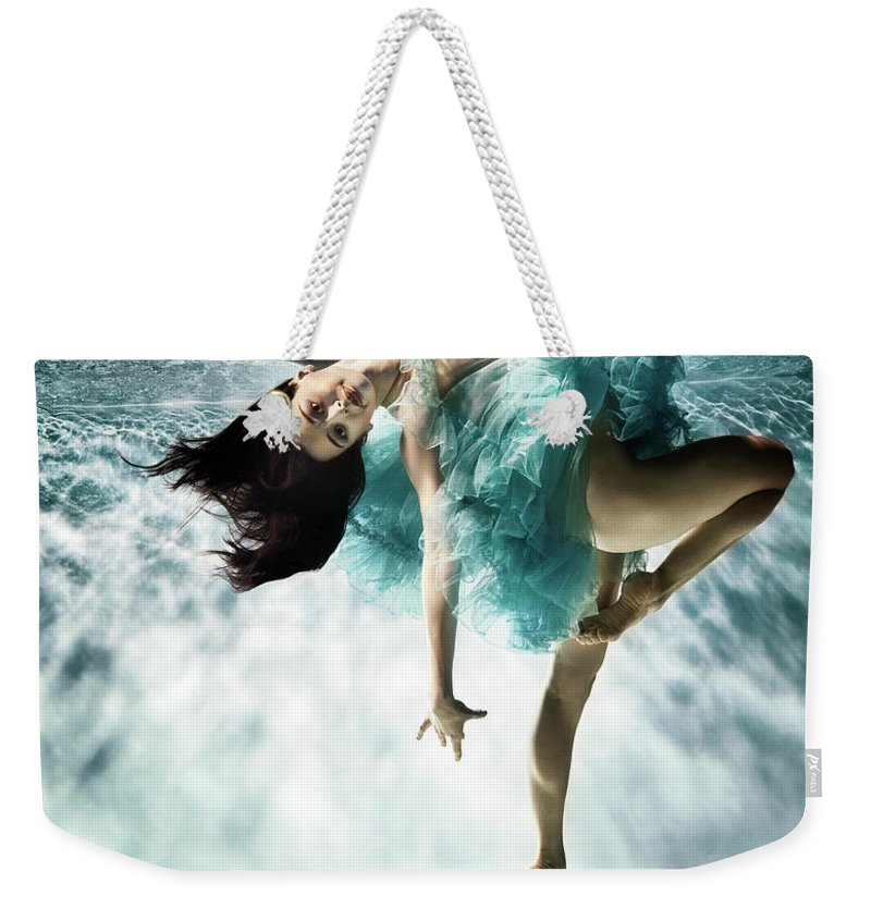 Ballet Dancer Weekender Tote Bag featuring the photograph Underwater Ballet by Henrik Sorensen