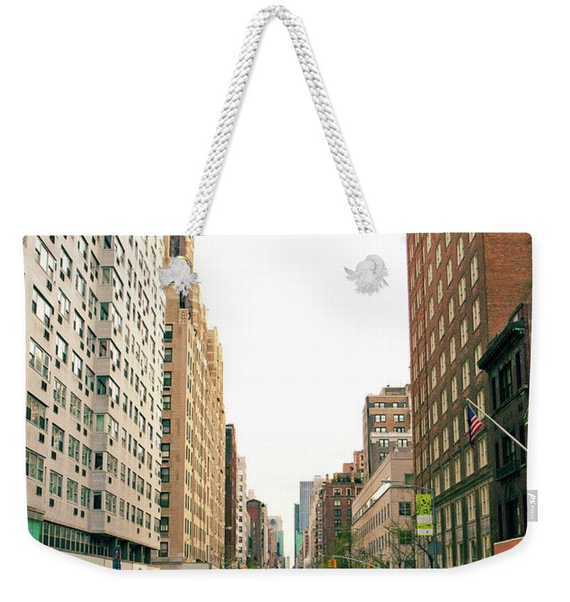 Outdoors Weekender Tote Bag featuring the photograph Upper East Side, New York City by William Andrew