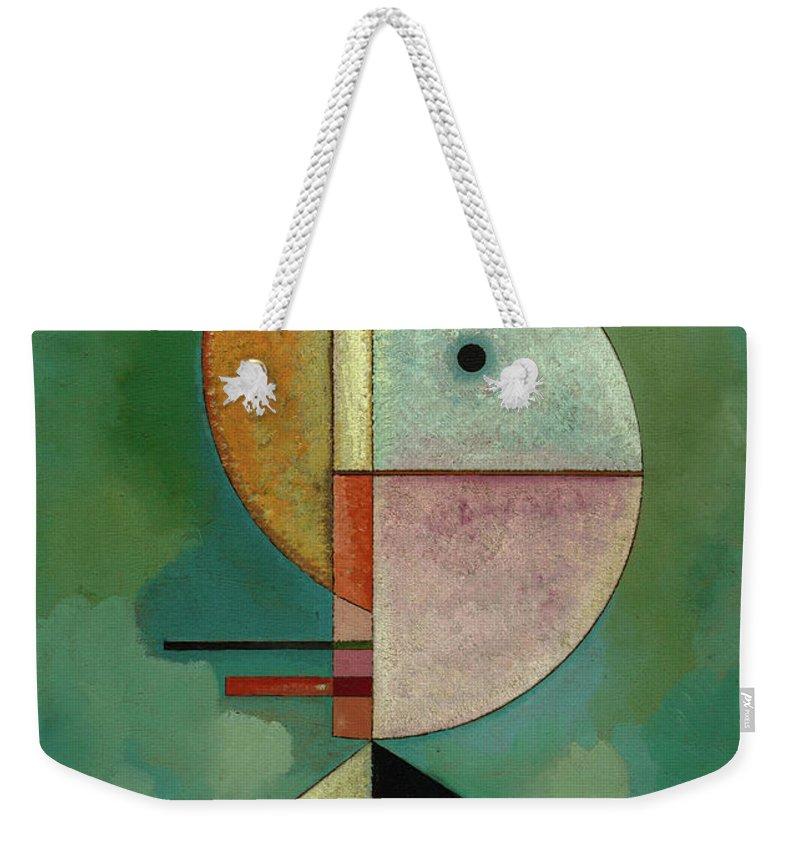 Wassily Kandinsky Upward Weekender Tote Bag featuring the painting Upward - Empor, 1929 by Wassily Kandinsky