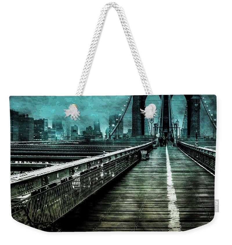 New York City Skyline Weekender Tote Bags