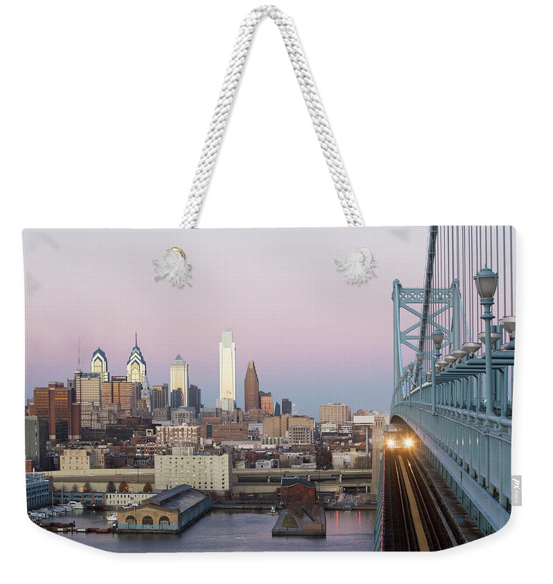 Downtown District Weekender Tote Bag featuring the photograph Usa, Pennsylvania, Philadelphia, View by Fotog