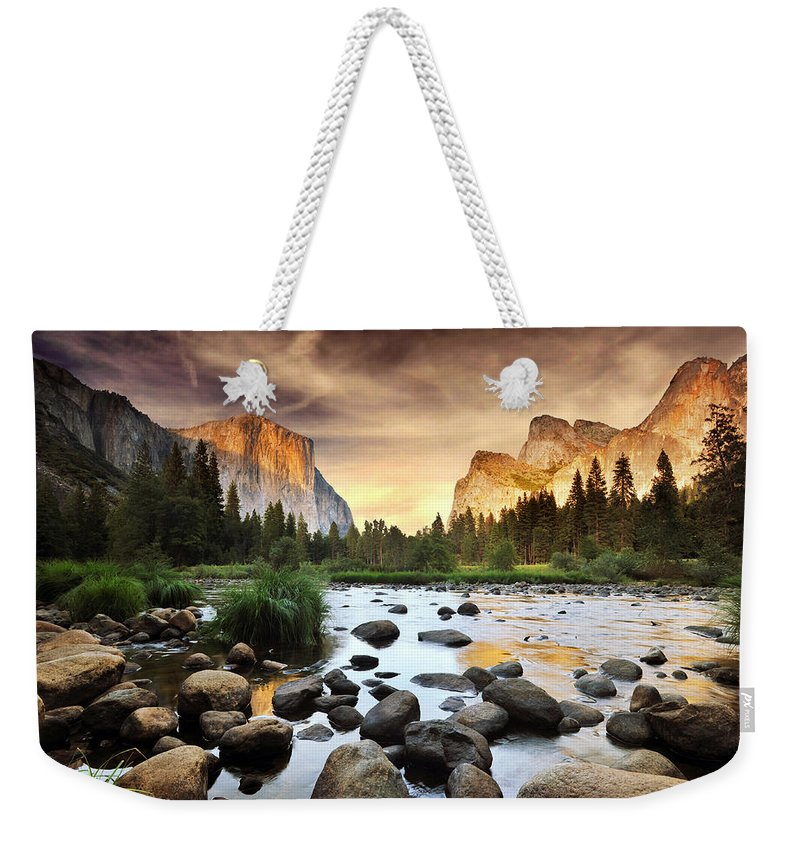 Scenics Weekender Tote Bag featuring the photograph Valley Of Gods by John B. Mueller Photography