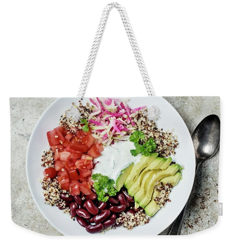 Spoon Weekender Tote Bag featuring the photograph Vegetarian Dish by Claudia Totir