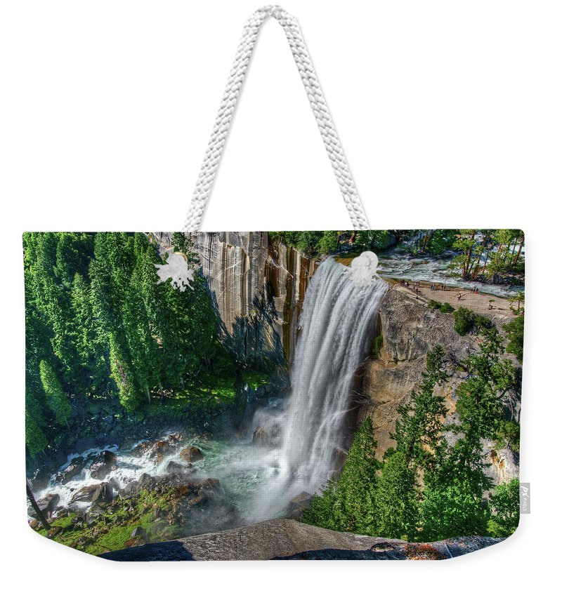 Scenics Weekender Tote Bag featuring the photograph Vernal Falls by Aaron Meyers