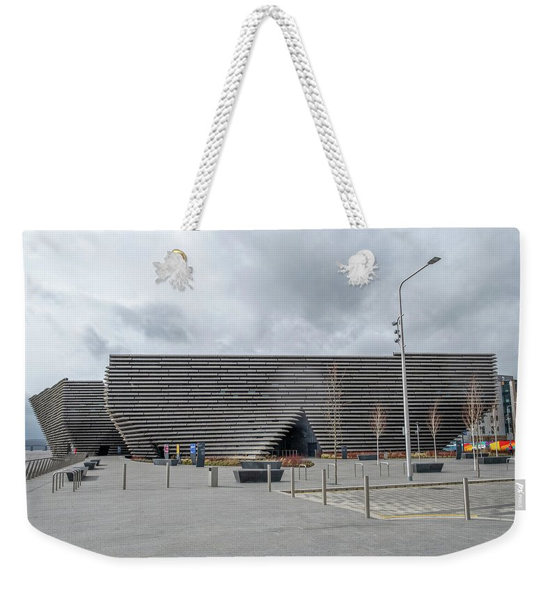 Dundee Weekender Tote Bag featuring the photograph Victoria And Albert Museum In Dundee Situated On The Riversi by Jim McDowall