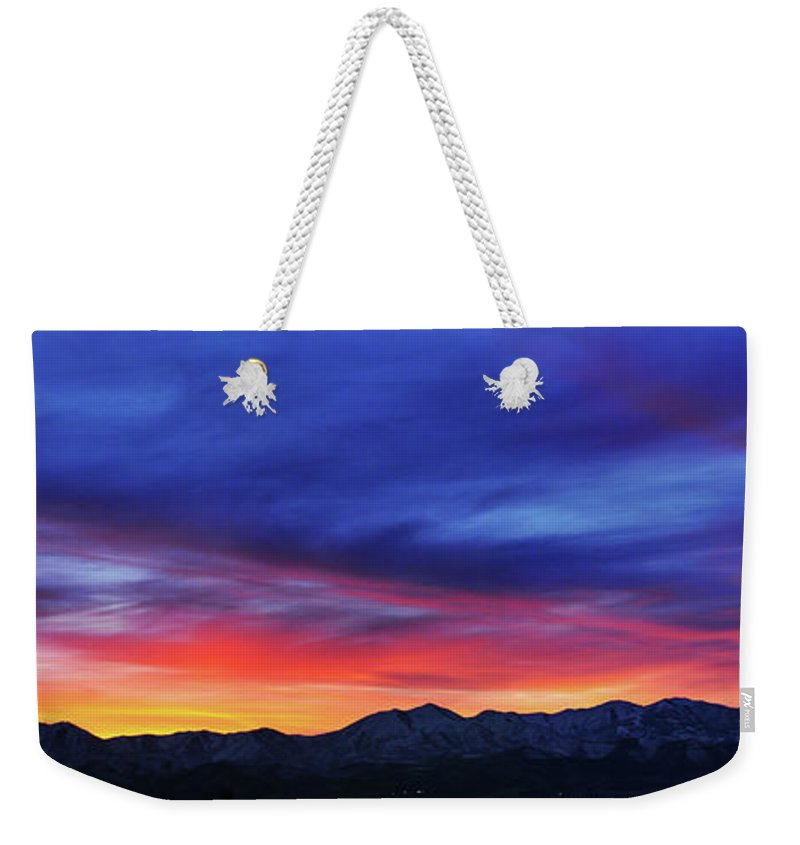 Scenics Weekender Tote Bag featuring the photograph View Of City by Utah-based Photographer Ryan Houston