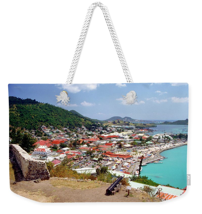 Scenics Weekender Tote Bag featuring the photograph View Of Marigot Bay From St. Louis by Medioimages/photodisc