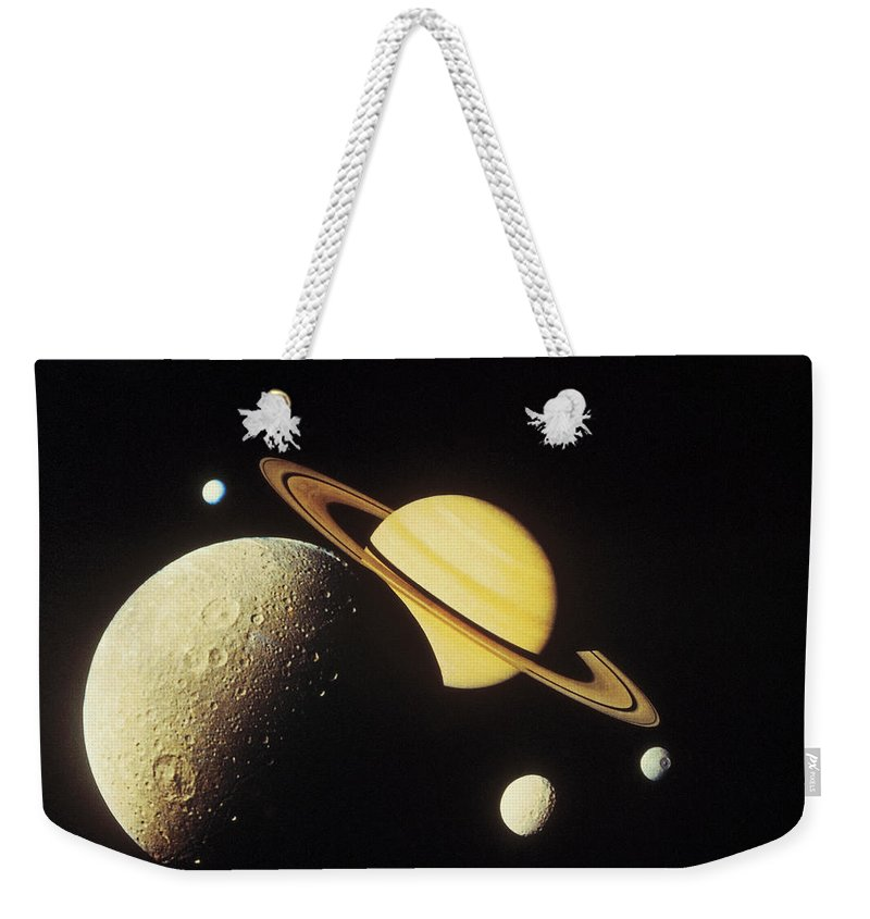 Galaxy Weekender Tote Bag featuring the photograph View Of Planets In The Solar System by Stockbyte