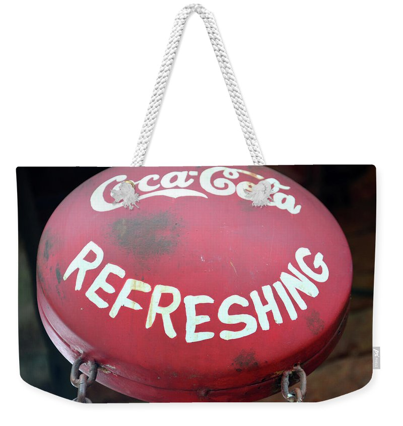 Asia Weekender Tote Bag featuring the photograph Vintage Coca Cola Sign Asia by David Lee Thompson