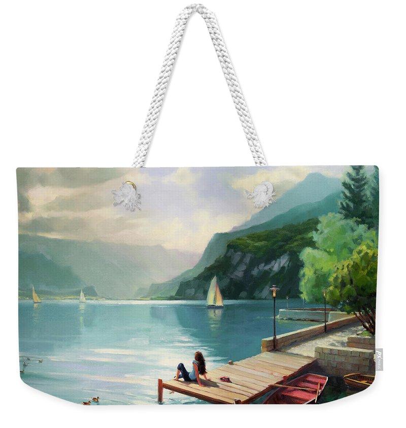 Swiss Weekender Tote Bags