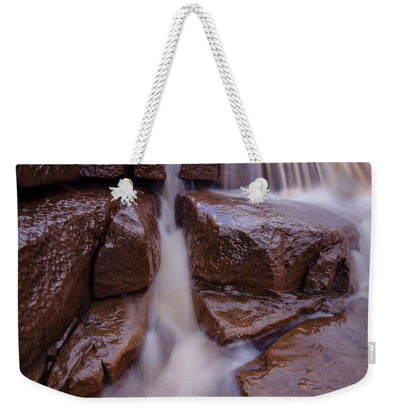 Waterfall Mixed Media Weekender Tote Bags