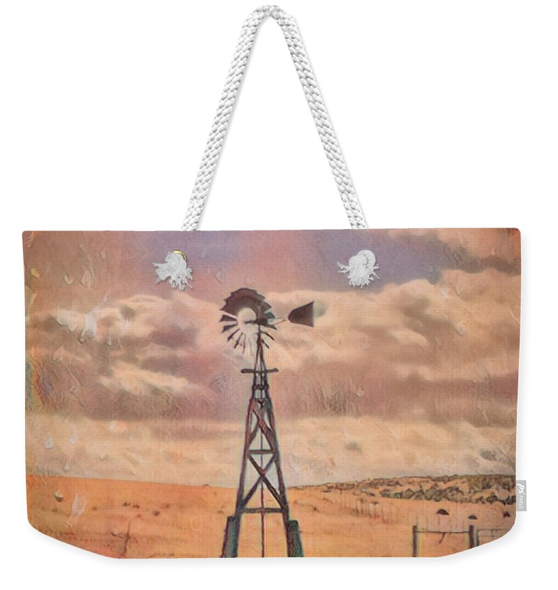 Windmill Weekender Tote Bag featuring the photograph Waiting On The Wind by Mike Braun
