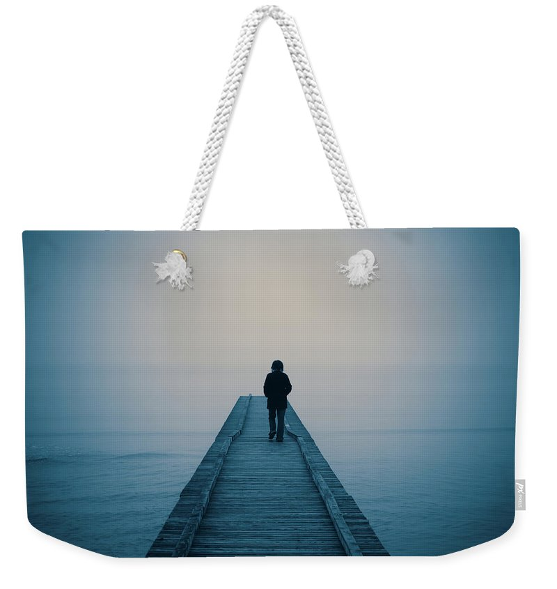 Mental Health Weekender Tote Bag featuring the photograph Walking Alone by Profeta