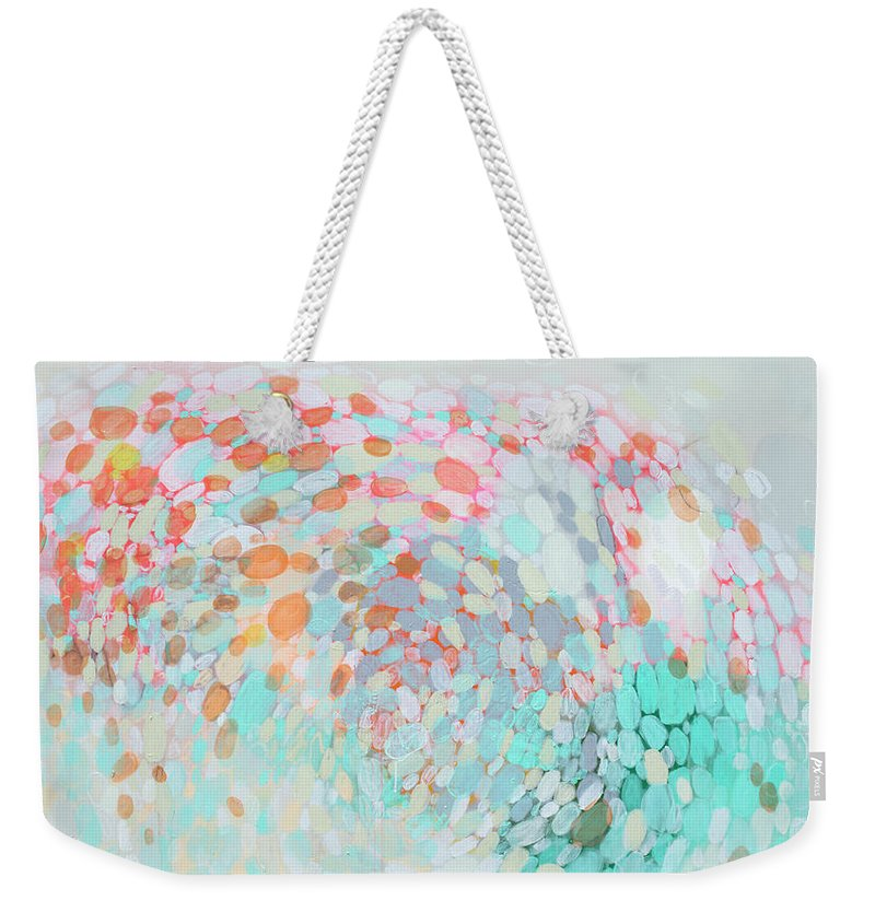Abstract Weekender Tote Bag featuring the painting Want To Go by Claire Desjardins