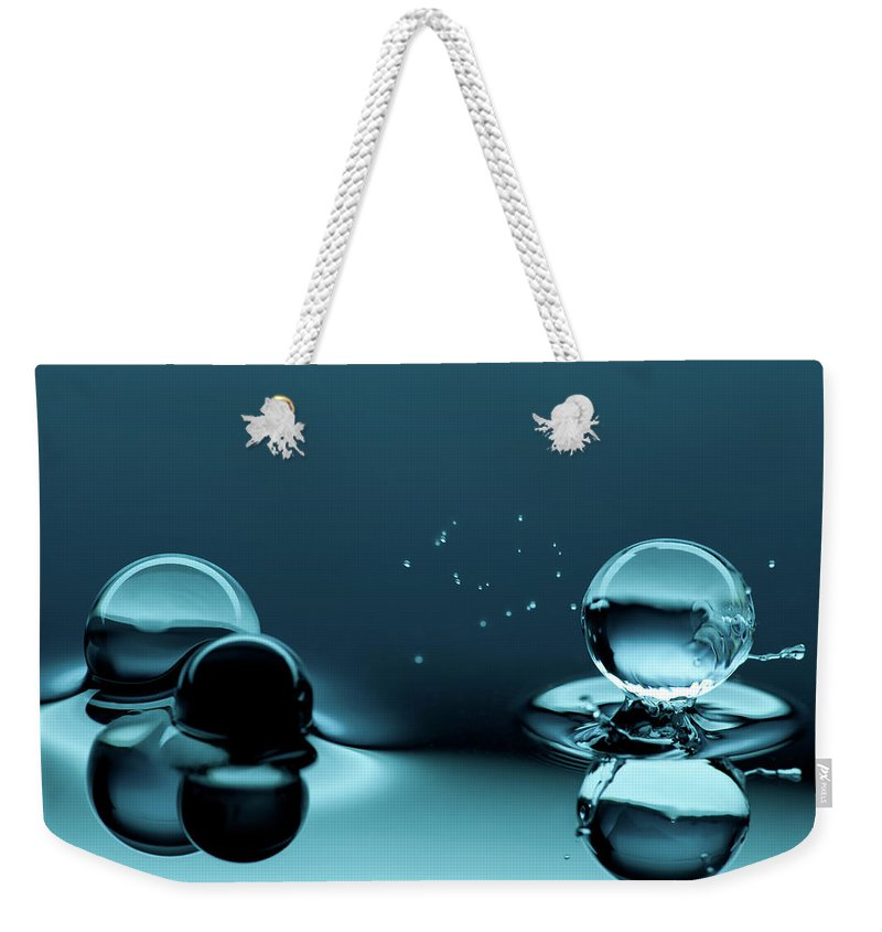 Atlanta Weekender Tote Bag featuring the photograph Water Balls by Alex Koloskov Photography