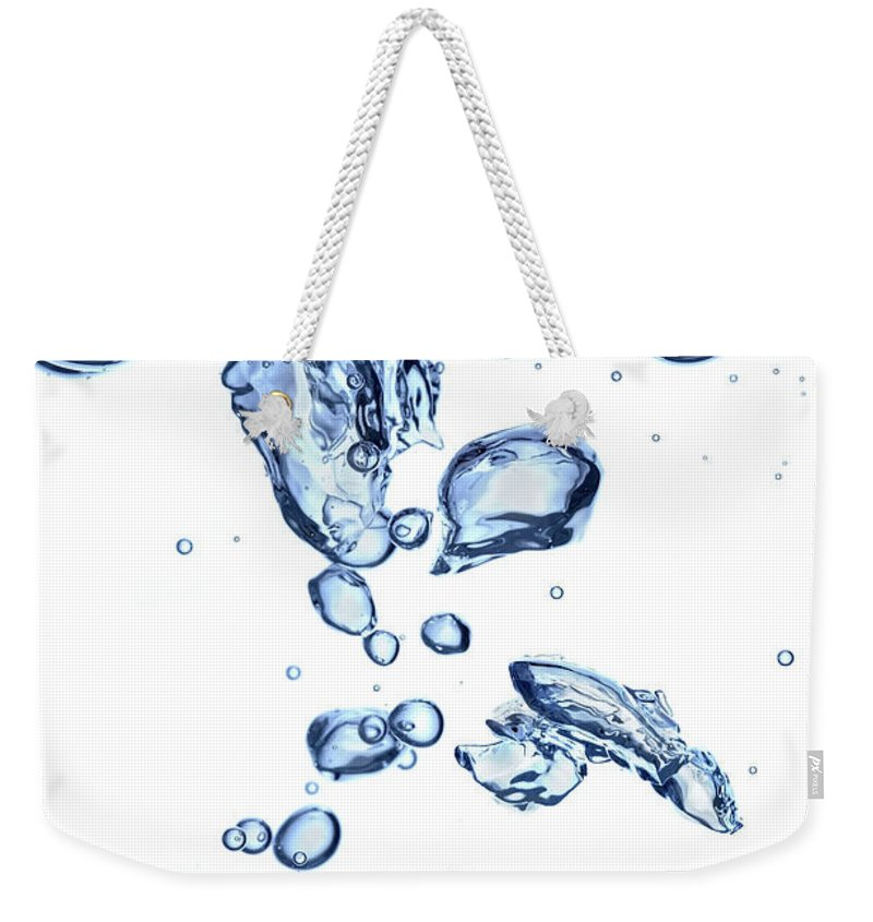 Underwater Weekender Tote Bag featuring the photograph Water Bubbles by Trout55