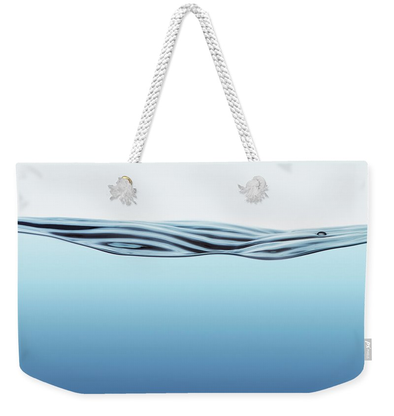 Spray Weekender Tote Bag featuring the photograph Water Surface With Big Wave by Kedsanee