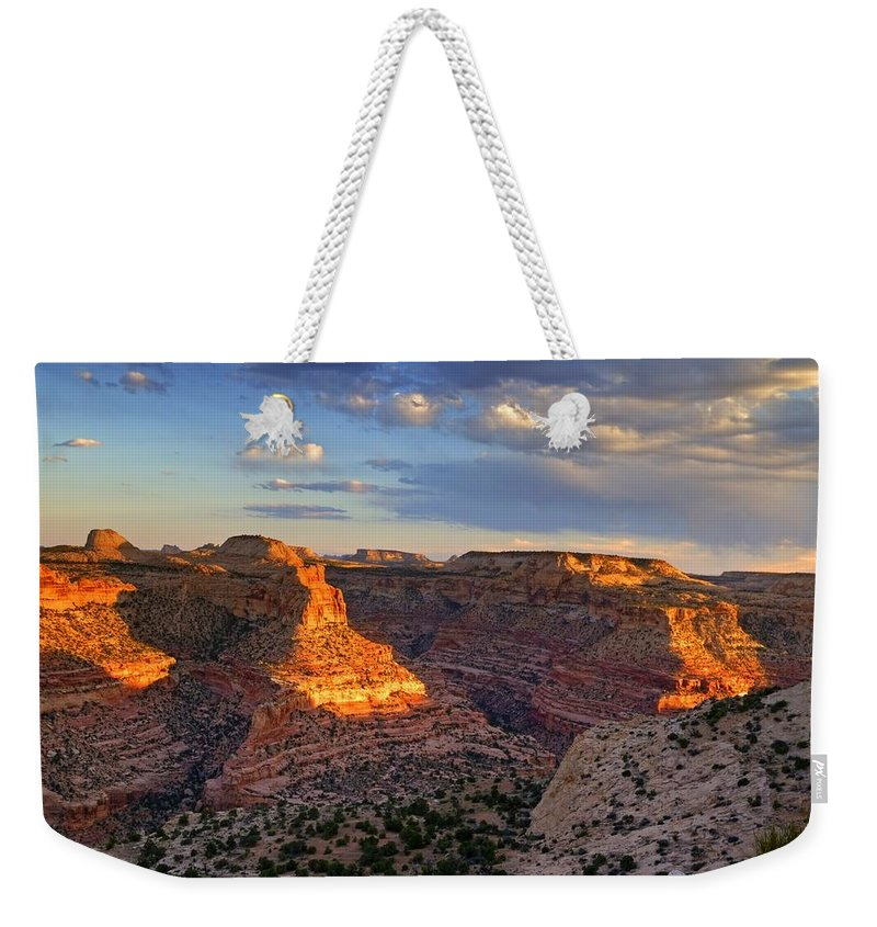 Scenics Weekender Tote Bag featuring the photograph Wedge Overlook by Yvonne Baur