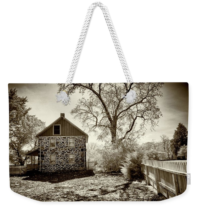 Weikert House Weekender Tote Bag featuring the photograph Weikert House At Gettysburg by Paul W Faust - Impressions of Light