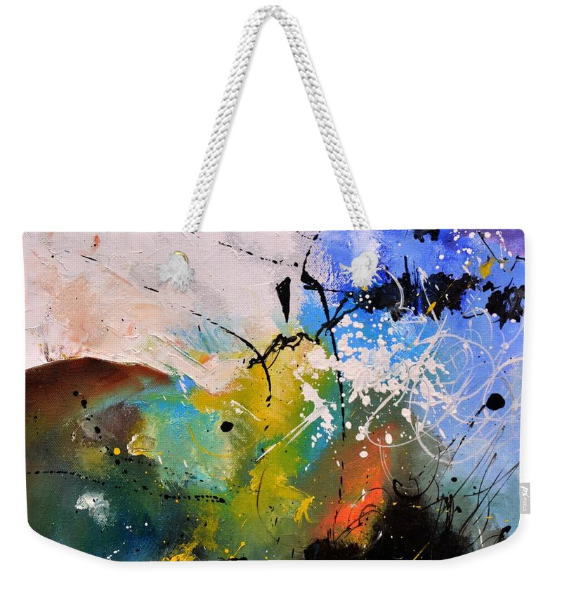 Abstract Weekender Tote Bag featuring the painting Where The Angels Like To Tread by Pol Ledent