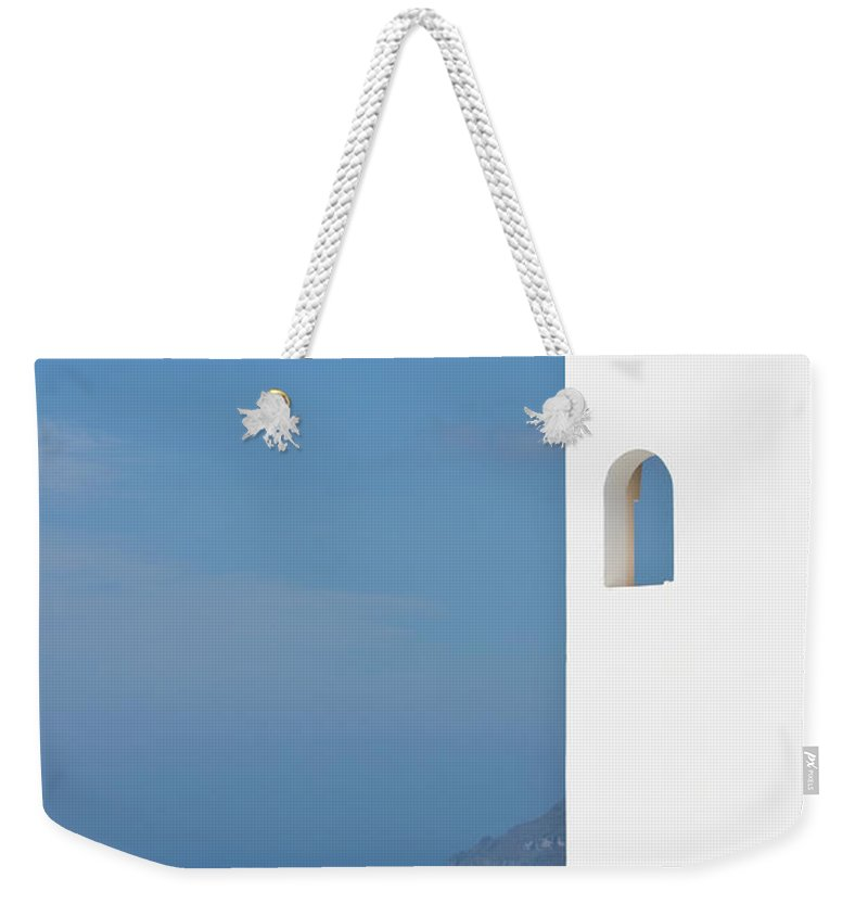 Greece Weekender Tote Bag featuring the photograph Windows To The Blue by Arturbo