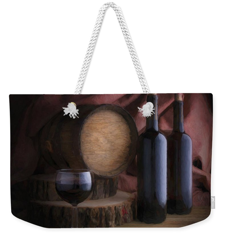 Wine Weekender Tote Bag featuring the photograph Wine Cellar Still Life by Tom Mc Nemar