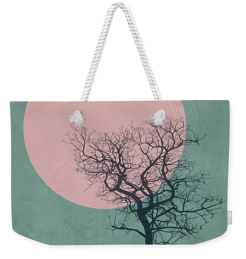 Tree Weekender Tote Bag featuring the mixed media Winter Tree by Naxart Studio
