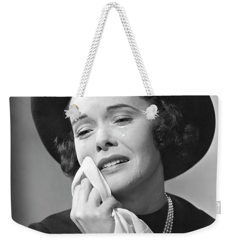 People Weekender Tote Bag featuring the photograph Woman Mourning by George Marks