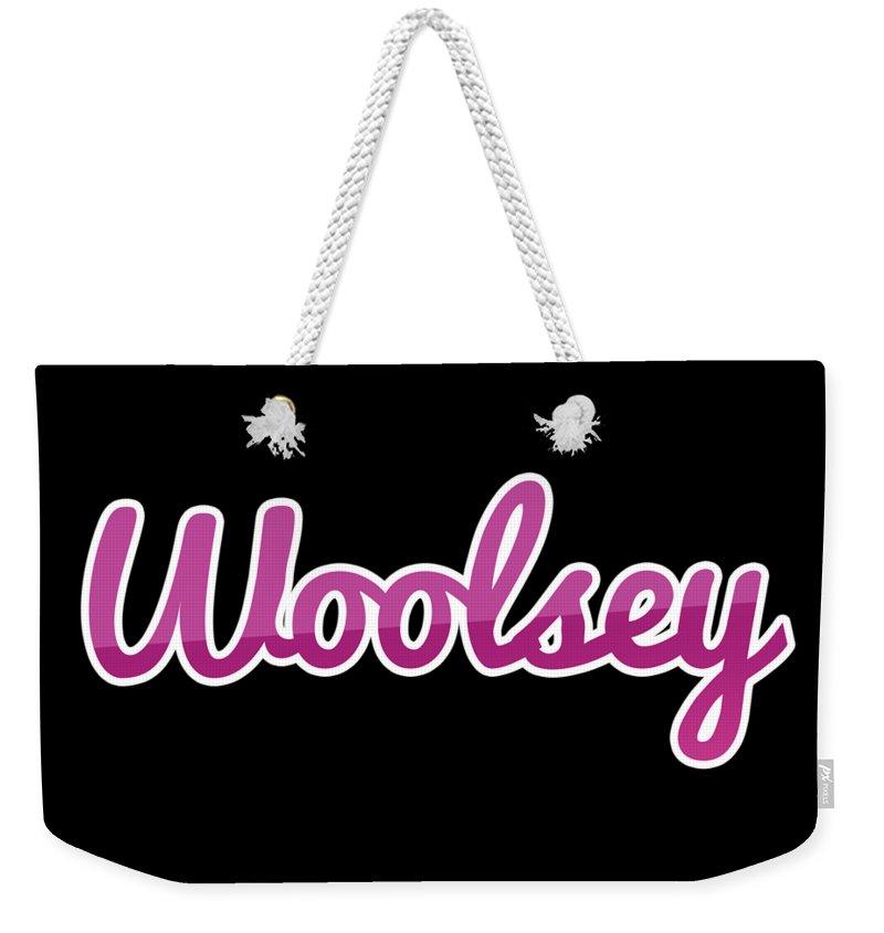 Woolsey Weekender Tote Bag featuring the digital art Woolsey #woolsey by Tinto Designs