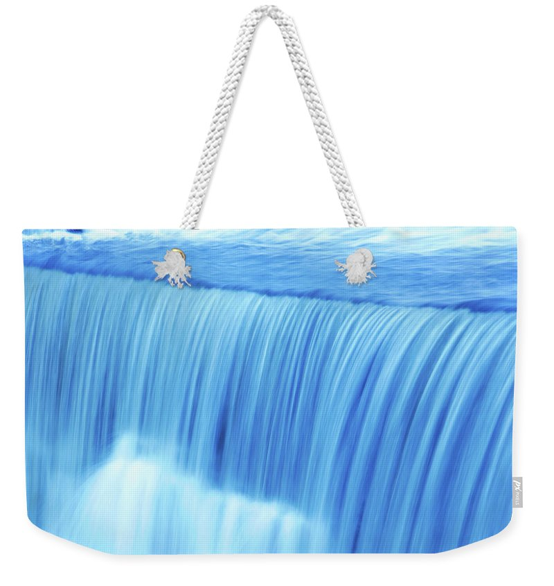 Scenics Weekender Tote Bag featuring the photograph Xl Waterfall Close-up by Sharply done