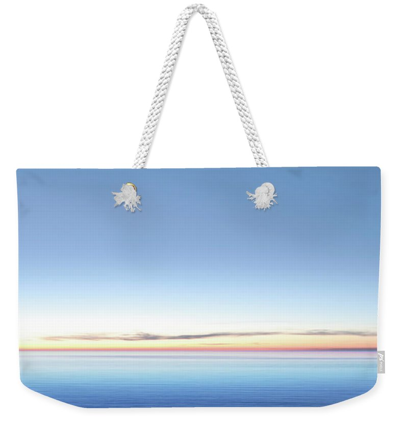 Lake Michigan Weekender Tote Bag featuring the photograph Xxl Serene Twilight Lake by Sharply done
