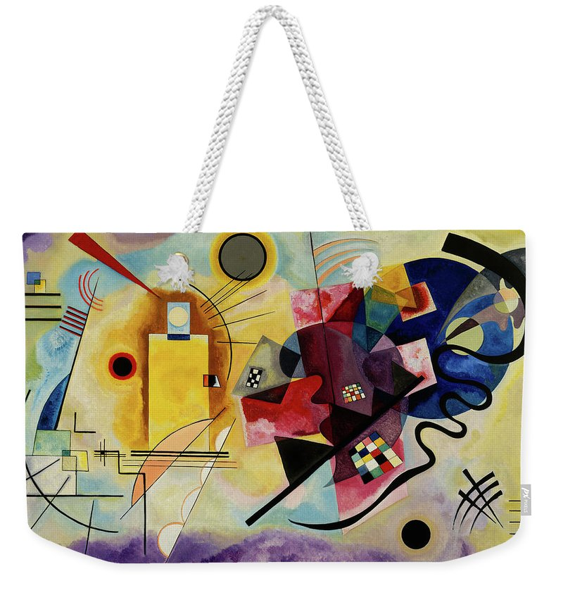 Kandinsky Yellow Red Blue Weekender Tote Bag featuring the painting Yellow, Red, Blue - Jaune, Rouge, Bleu, 1925 by Wassily Kandinsky