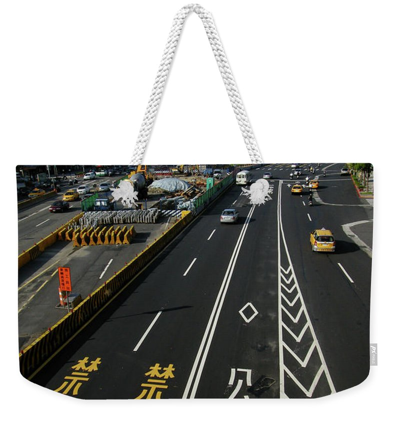 Shadow Weekender Tote Bag featuring the photograph Zhonghua Rd by Copyright Of Eason Lin Ladaga