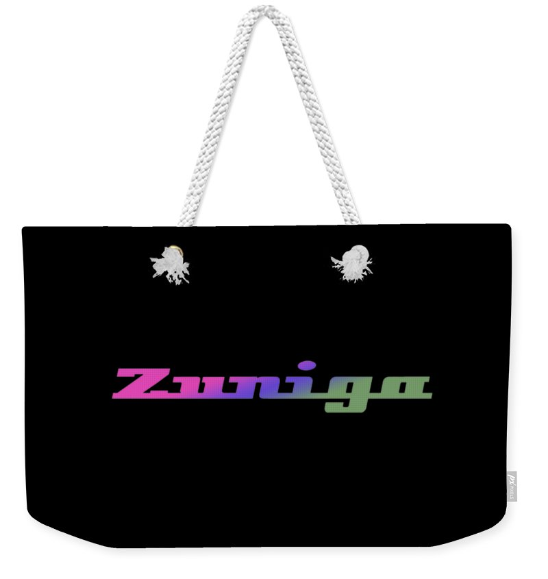 Zuniga Weekender Tote Bag featuring the digital art Zuniga #zuniga by TintoDesigns