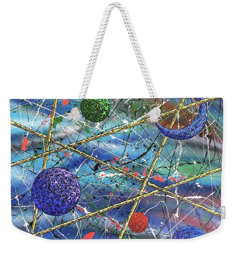Abstract Weekender Tote Bag featuring the painting Crescent #2 by Micah Guenther