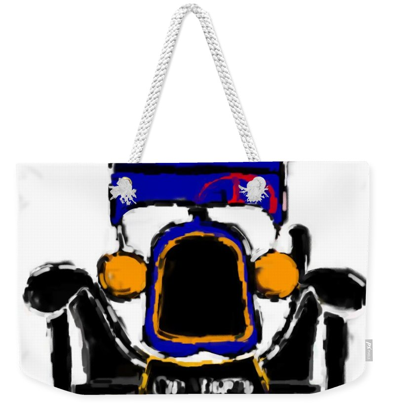 F1 Weekender Tote Bag featuring the mixed media F1 by Asbjorn Lonvig