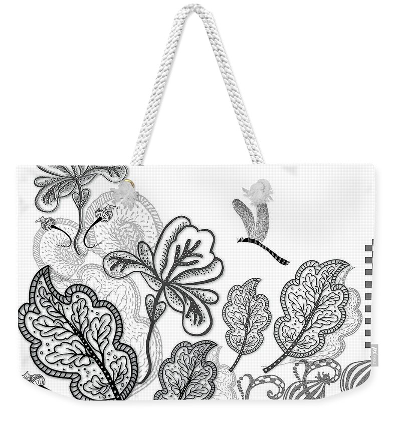 Floral Composition Weekender Tote Bag featuring the digital art Floral Comp by Valerie Meotti