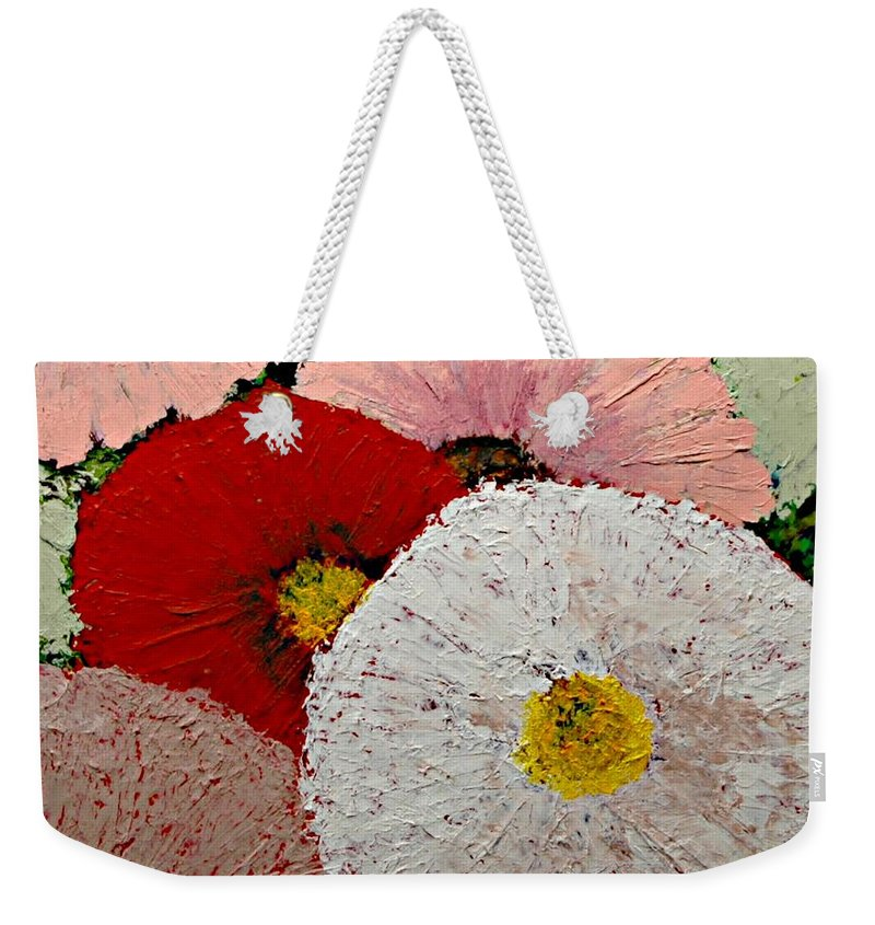 Landscape Weekender Tote Bag featuring the painting From the Garden by Allan P Friedlander