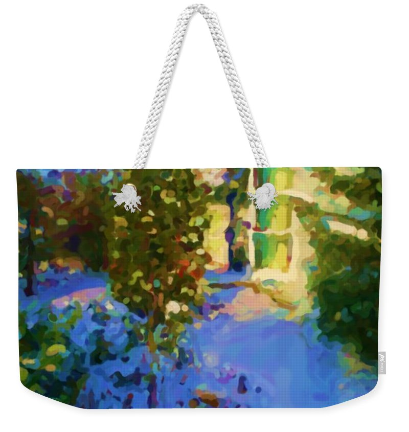 Hedensted Weekender Tote Bag featuring the mixed media Hedensted by Asbjorn Lonvig