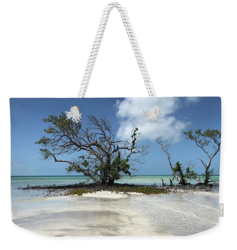 Key West Florida Waters Weekender Tote Bag featuring the photograph Key West Waters by Ashley Turner